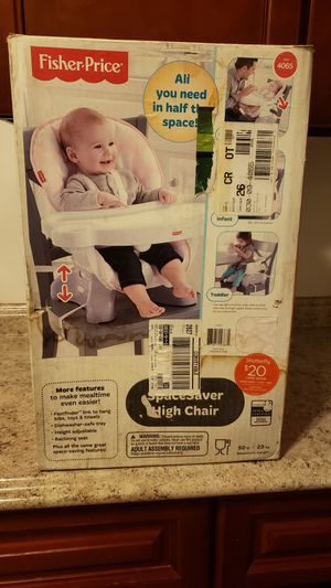 Fisher price space saver high chair for Sale in Azusa, CA