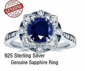 925 Sterling Silver Genuine Sapphire Ring for Sale in Acworth, GA