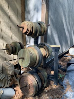 BarBell weights and rack for Sale in Jonesboro, GA