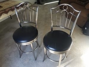 TWO SWIVEL STAINLESS STEAL BAR STOOLS for Sale in Las Vegas, NV