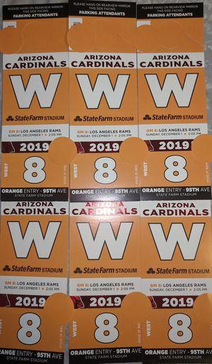 Arizona Cardinals Orange West Great Lawn Season or Browns Rams Steelers Parking Passes ticket for Sale in Phoenix, AZ