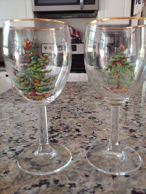 Christmas Spode wine glasses for Sale in Bonney Lake, WA