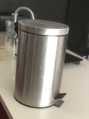 Silver chrome step touch to open trash can for Sale in Los Angeles, CA