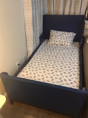 IKEA kid blue Busunge extendable bed for Sale in Plano, TX