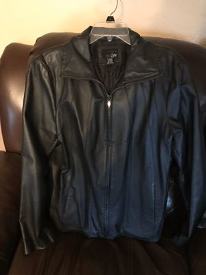 Beautiful Casual Ladies East 5th Black Leather Lined Jacket. Size XL. Excellent Condition. Pickup in East Clayton today for Sale in Clayton, NC
