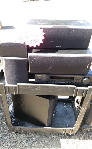 Onkyo 7 speaker surround sound for Sale in Beaverton, OR