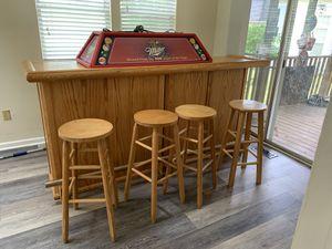 7 ft oak bar for Sale in Sterling, VA