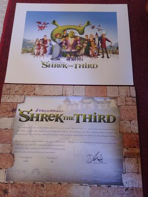 DreamWorks Shrek The Third limited edition lithograph. for Sale in Woodbridge, VA