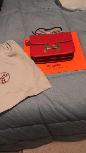 Hermes red handbag purse tote for Sale in Santa Clara, CA