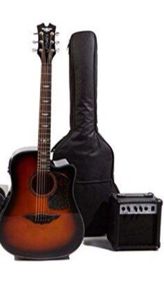 Keith Urban Acoustic Electric Guitar Copper with Amplifier and Accessories! New Includes Amplifier, soft case and accessories! ARCADIA DISCOUNT OU for Sale in Arcadia, CA