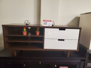 TV Stand for up to 55inch Tvs, Dark Walnut for Sale in Tustin, CA
