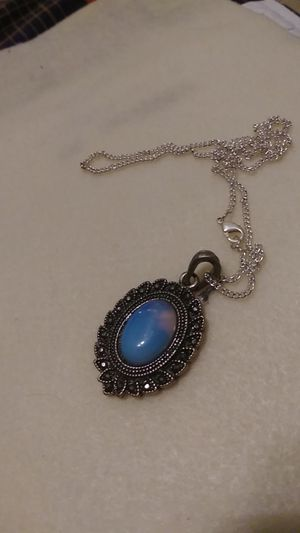 Blue and Silver costume jewelry necklace for Sale in San Antonio, TX