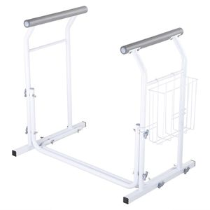 Bathroom Toilet Safety Rail Frame Bar Support 375lbs with Magazine Rack Assist Handrails for Elderly Handicap for Sale in Norwalk, CA