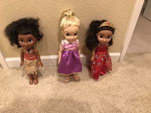 Disney Princess Moana, Rapunzel, Elena Dolls for Sale in Chula Vista, CA