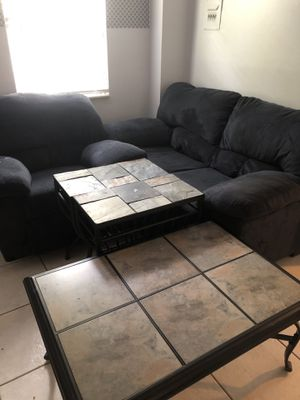 Loveseat, coffee table, and matching end tables for Sale in Tampa, FL