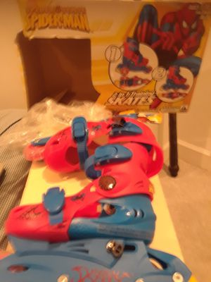 Spider-Man 2 in 1 training skates ages 3 to 6 size 16 to 19 for Sale in Coral Springs, FL