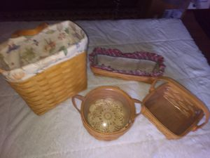 Longaberger Baskets Lot of 4 for Sale in Middletown, OH