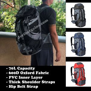 New 70L Hiking Backpack Camping Traveling Large Capacty for Sale in Moreno Valley, CA