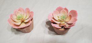 PENDING Faux (2) Succulents Plants $6 for Sale in Portland, OR