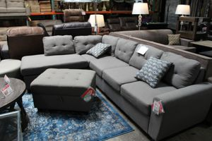 Sectional Sofa without Ottoman, Grey for Sale in Santa Fe Springs, CA