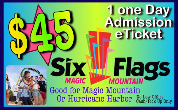 SIX FLAGS eTICKETS