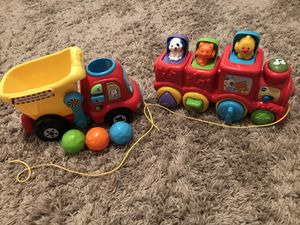Vtech Train and dump truck for Sale in Peoria, AZ