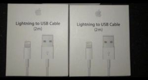 2 Lightning to USB Cable / Iphone Charger for Sale in Indianapolis, IN