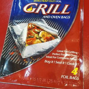 Reynolds Wrap Extra Heavy Duty Aluminum Foil Grill & Oven Bag, Great for BBQ. 4 count Bags, 15.5 x 10-In. New sealed package. More available. for Sale in Long Beach, CA