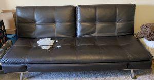 Black leather futon for Sale in Tempe, AZ
