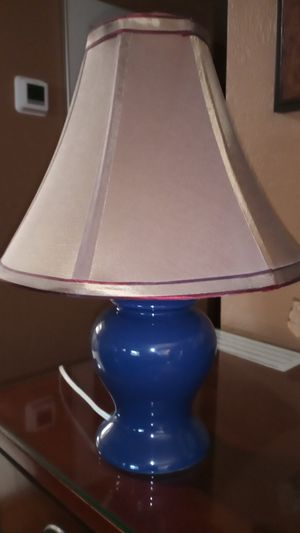 Small ceramic lamp with shade. 15 inches high. for Sale in Tacoma, WA