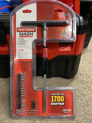 "*** Craftsman Mach 1/4"" drive T-handle set. New *** for Sale in Fremont, CA"