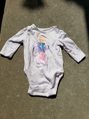 Cute Gray/purple long-sleeved Elephant Onesie 0 - 3mo for Sale in Tulsa, OK