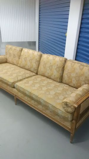 1960s 70s retro floral orange and yellow couch sofa for Sale in Takoma Park, MD