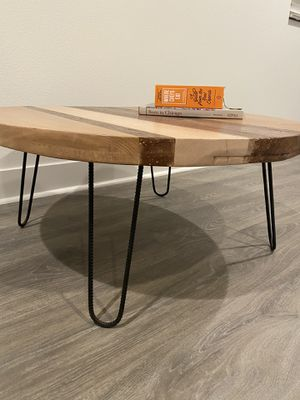Custom Made Mosaic Wood Coffee Table for Sale in Irvine, CA