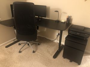 Office desk, chair, and filing cabinet set for Sale in Irvine, CA