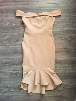 Dress M/L Mermaid really nice bought in Nordstrom MODIA New York off shoulder midi dress used for 2 hrs for church n pictures at my daughter's bapti for Sale in Huntington Beach, CA