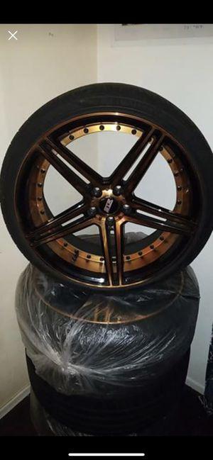 "Rims 20"" Bronze with Black STR New Tires for Sale in Tustin, CA"