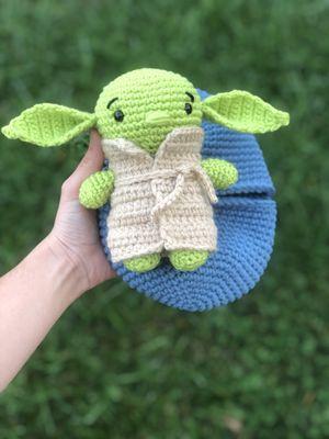 Hatching alien, stuffed animal, handmade crochet animal for Sale in Shenandoah Junction, WV