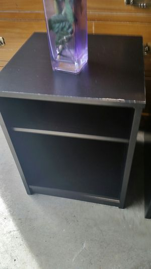 IKEA TWO BLACK NIGHSTAND for Sale in Fairfax, VA