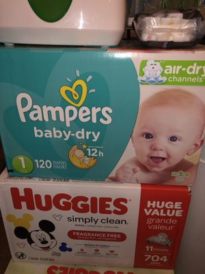 Pampers 120 diapers Size 1 for Sale in Sun City, AZ