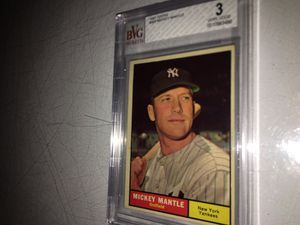 1961 (Graded) MICKEY MANTLE TOPPS BASEBALL CARD For Sale... for Sale in Lafayette, CA