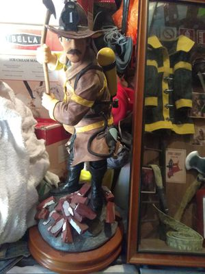 Collectible firemen statue and equipment for Sale in Modesto, CA