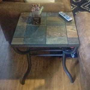 One Ashley Furniture Antigo Slate Tile End Table for Sale in St. Louis, MO