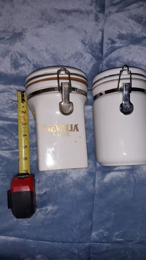 Two ceramic canisters. for Sale in Lowell, MA