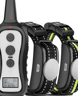 Training Collar with 2 Receivers, Shock Collars for Dogs with Remote, Dog Shock Collar with Beep Vibration Shock for Small Medium Large 2 Dogs(15-100 for Sale in New York,  NY