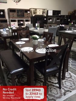 New 6pc Dining Set, Brown, SKU# PDXF2297TC for Sale in Norwalk,  CA