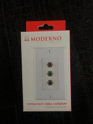 Moderno component video wall plate for Sale in Fontana, CA