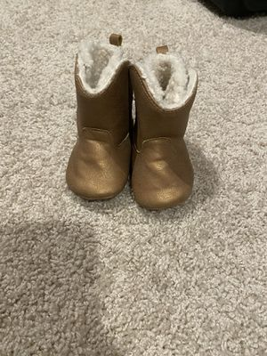 Carters baby girl boots size 3-6 months for Sale in Hayward, CA