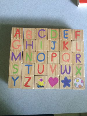 Peppa Pig 30-pc. Wooden Alphabet & Puzzle Blocks for Sale in Grand Rapids, MI