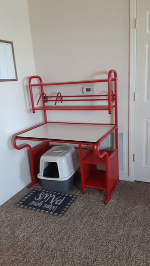 Desk red for Sale in Davenport, IA